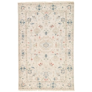 Jaipur Hacci Rug From Jaipur Revival Collection JAR01 - Cream/Blue