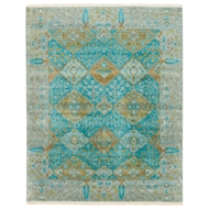 Jaipur Allegro Rug From Opus Collection OP30 - Teal/Green