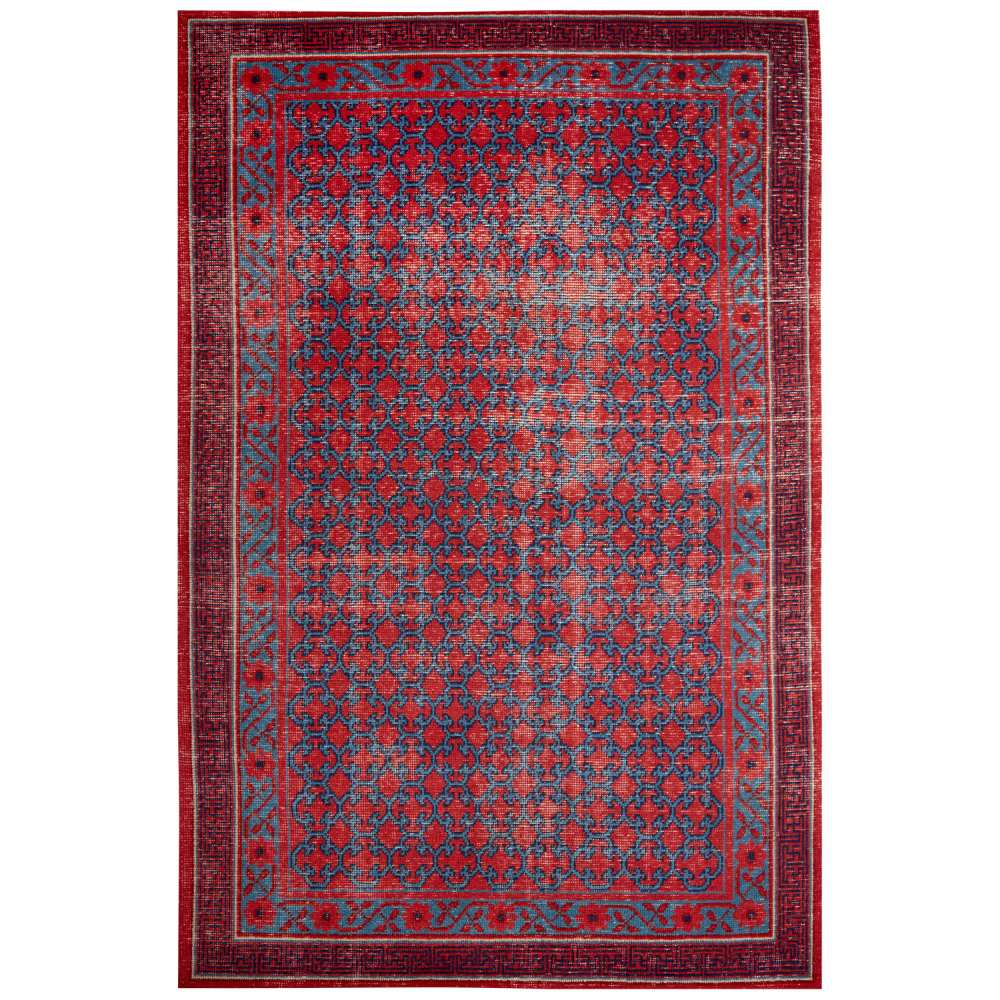 Jaipur Concord Rug from Revolution Collection - Red & Blue