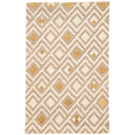 Jaipur Manta Rug From Traditions Made Modern Select Collection TMS02 - White/Gold
