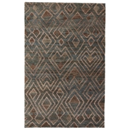 Jaipur Raffia Cloth Rug From Traditions Made Modern Select Collection TMS03 - Blue/Brown