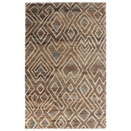 Jaipur Raffia Cloth Rug From Traditions Made Modern Select Collection TMS04 - Brown/Gray