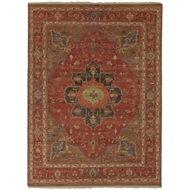 Jaipur York Rug From Uptown By Artemis Collection UT02 - Red/Brown