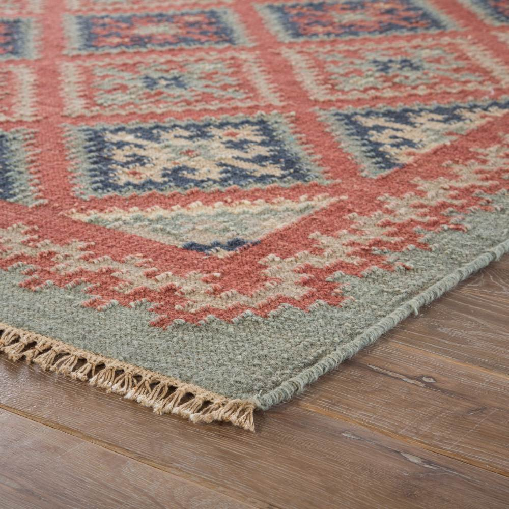 Corner View - Jaipur Ottoman Rug from Anatolia Collection AT01 - Smoke Blue