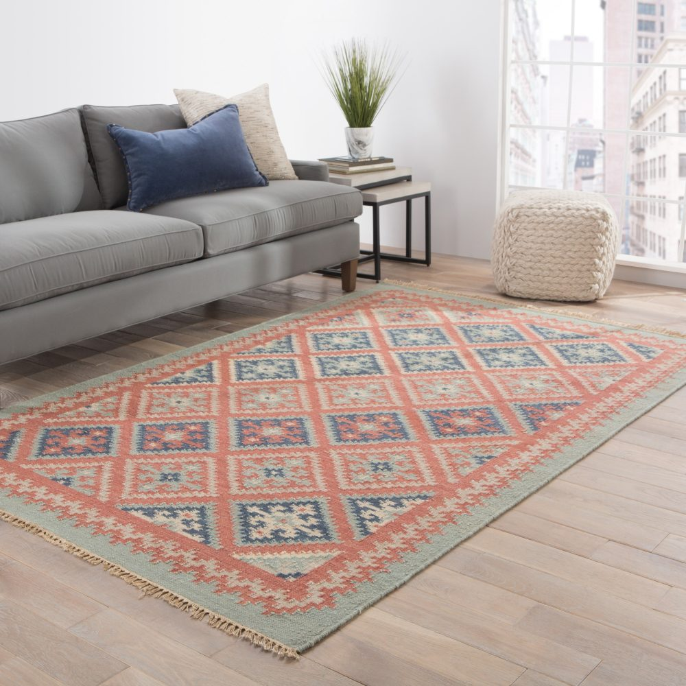 Room View - Jaipur Ottoman Rug from Anatolia Collection AT01 - Smoke Blue