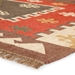 Corner View - Jaipur Amman Rug From Bedouin Collection - Zinfandel/Wood Thrush BD04