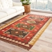 Room View - Jaipur Amman Rug From Bedouin Collection - Zinfandel/Wood Thrush BD04