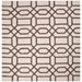 Square View - Jaipur Bellevue Rug from City Collection CT07 - Light Gray