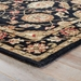 Corner View - Jaipur Callisto Rug from Mythos Collection MY10 - Jet Black