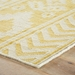 Corner View - Jaipur Farid Rug from Urban Bungalow Collection UB16 - Misted Yellow