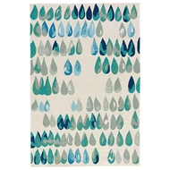Jaipur Drizzle Rug From Barcelona I-O Collection - Papyrus Green Bay BA75