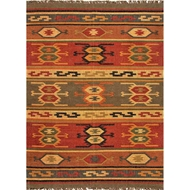 Jaipur Thebes Rug From Bedouin Collection - Cardinal & Mustard Gold