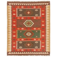 Jaipur Amman Rug From Bedouin Collection - Zinfandel & Wood Thrush