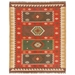 Jaipur Amman Rug From Bedouin Collection - Zinfandel/Wood Thrush BD04