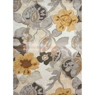 Jaipur Petal Pusher Rug From Blue Collection - Taos Taupe & Mustard Gold
