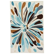Jaipur Flowerburst Rug From Colours I-O Collection - Papyrus Shopping Bag CO21