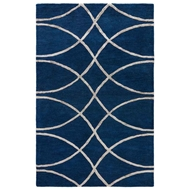Jaipur Calacata Rug From City Collection - Midnight Navy Aluminum CT98