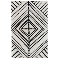 Jaipur Gemma Rug From Etho By Nikki Chu Collection - Turtledove Jet Black ENK10