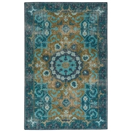 Jaipur Modify Rug From Kai Collection - Deep Teal/Avocado KAI05