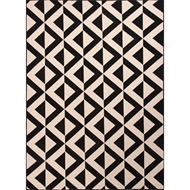 Jaipur Marquise Rug From Patio Collection - Jet Black/Birch PAO03