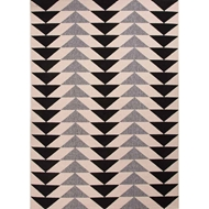Jaipur Mckenzie Rug From Patio Collection - Jet Black/Birch PAO04