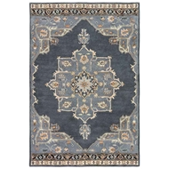 Jaipur Helda Rug From Poeme Collection - Ebony Castle Rock PM146