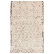 Jaipur Majorelle Rug From Safi Collection - Cloud Cream/Chocolate Chip SAF02
