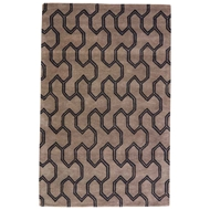 Jaipur Leon Rug From Town Collection - Tarmac/Jet Black TOW05