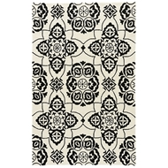 Jaipur Morella Rug From Barcelona I-O Collection BA72 - White/Black