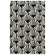 Jaipur Mollusk Rug From Barcelona I-O Collection BA74 - White/Black