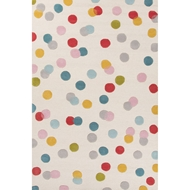 Jaipur Confetti Rug From Playful By Petit Collage Collection PBP03 - Ivory/Blue