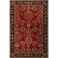 Jaipur Chambery Rug From Poeme Collection PM111 - Red/Black