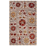 Jaipur Adler Rug From Poeme Collection PM139 - Ivory/Red
