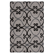 Jaipur Arbor Rug From Hera Collection HER02 - Gray/Black