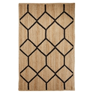 Jaipur Aten Rug From Subra By Nikki Chu Collection SNK03 - Natural/Black