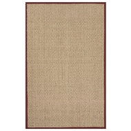 Jaipur Basket Rug From Basket Weave Collection BAS03 - Ivory/Red