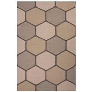 Jaipur Beehive Rug From En Casa By Luli Sanchez LSF30 - Gray/Taupe