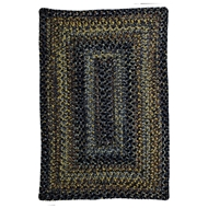 Jaipur Black Forest Rug From Ultra Durable Braided Rugs Collection UBR02 - Black/Gray