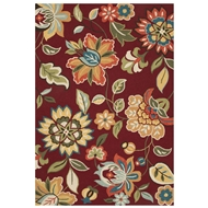 Jaipur Botanic Rug from Blossom Collection - Rosewood