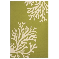 Jaipur Bough Out Rug From Grant I-O Collection GD49 - Green/Ivory