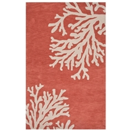 Jaipur Bough Rug From Coastal Seaside Collection COS02 - Orange/Ivory