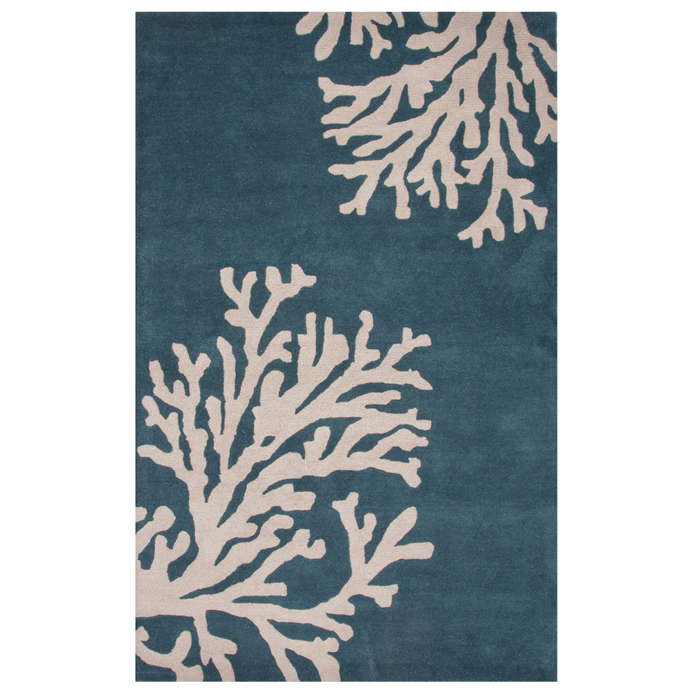 Jaipur Bough Rug From Coastal Seaside Collection COS03   Blue/Ivory ...