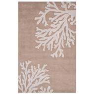 Jaipur Bough Rug From Coastal Seaside Collection COS04 - Taupe/Ivory
