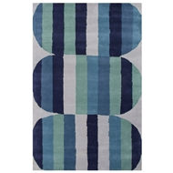 Jaipur Capsule Rug From En Casa By Luli Sanchez LST08 - Blue/Green