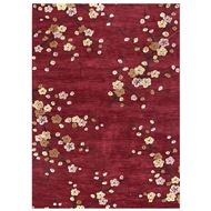 Jaipur Cherry Blossom Rug from Brio Collection - Chili Pepper