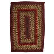 Jaipur Cider Barn Rug From Hudson Jute Braided Rugs Collection HBR02 - Red/Green
