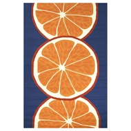 Jaipur Citrus Rug From Grant I-O Collection GD44 - Orange/Blue