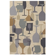 Jaipur Clink Rug From Design Campus-Indoor Outdoor Collection DCI03 - Natural/Gray