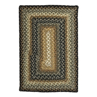 Jaipur Cocoa Bean Rug From Cotton Braided Rugs Collection CBR02 - Taupe/Black