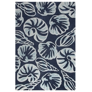 Jaipur Conch Rug From Coastal Tides Collection COT01 - Blue/Ivory